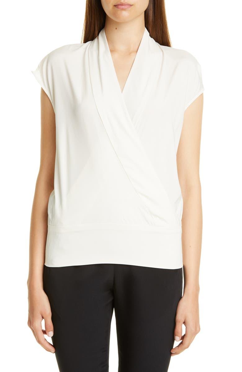 ZERO + MARIA CORNEJO Tasmeen Stretch Silk Charmeuse Top, Main, color, WHITE PEPPER