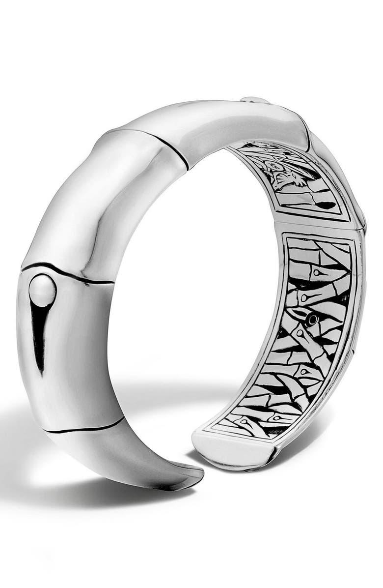 JOHN HARDY Bamboo Silver Wrist Cuff, Main, color, 040