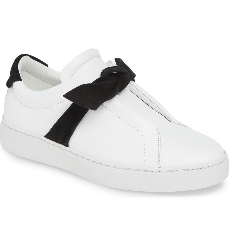 ALEXANDRE BIRMAN Clarita Bow Sneaker, Main, color, WHITE/ BLACK