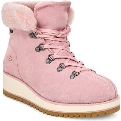 UGG Birch Genuine Shearling Waterproof Winter Boot- Pink