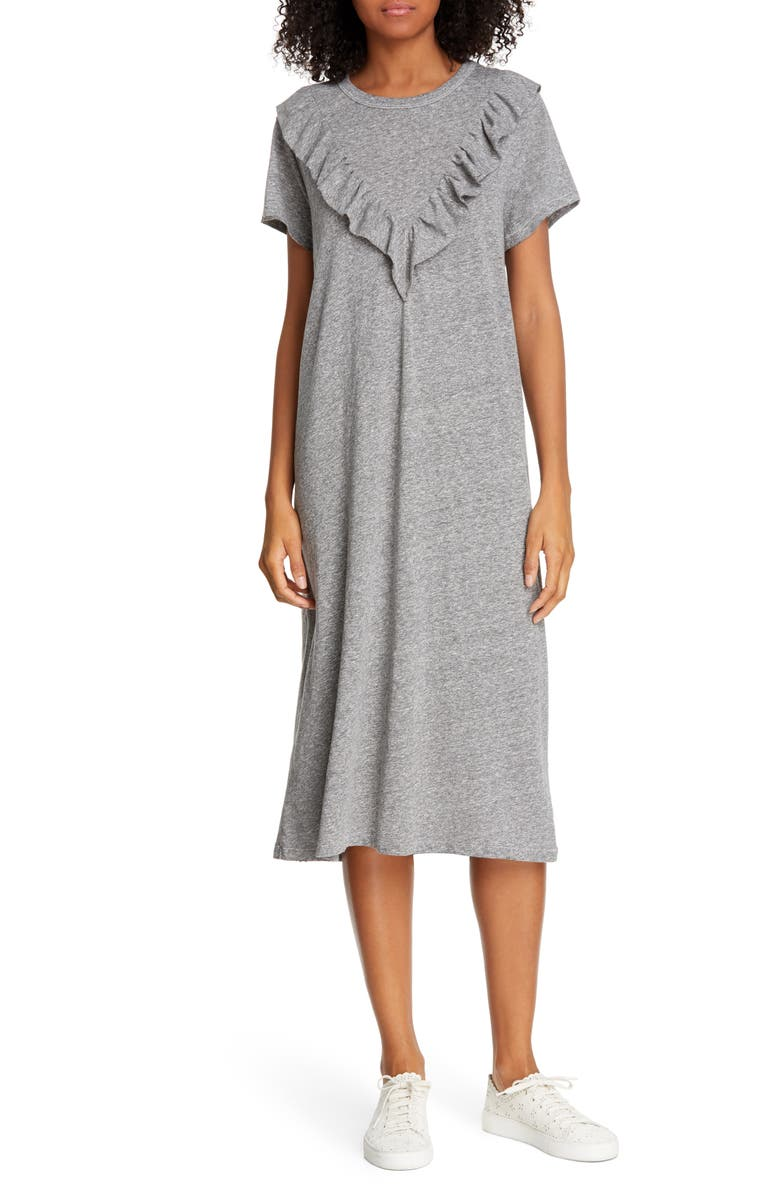 THE GREAT. The Tuxedo T-Shirt Dress, Main, color, 030