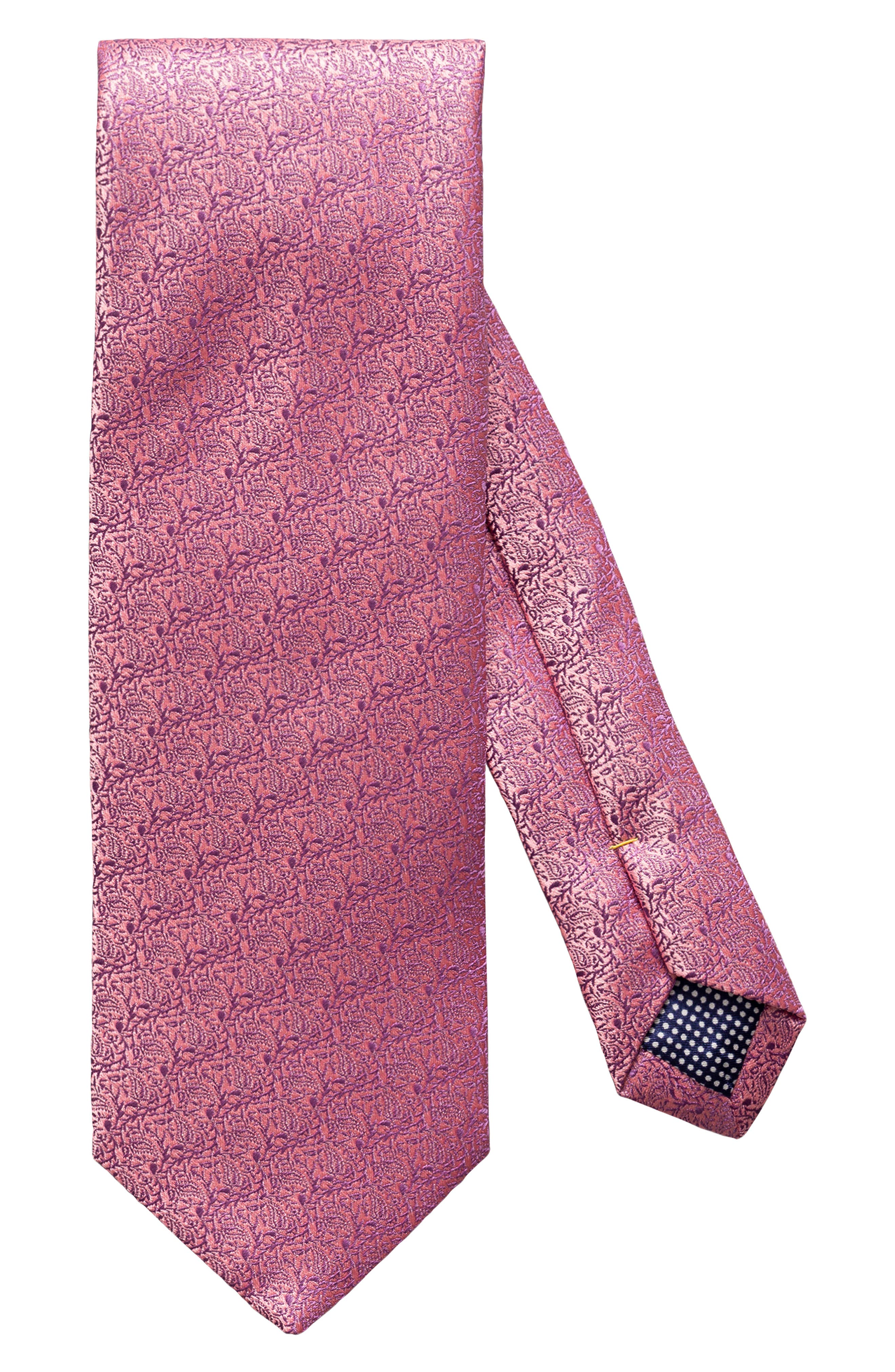 Image of Eton Textured Solid Silk Tie