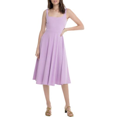Astr The Label Faith A-Line Dress, Purple