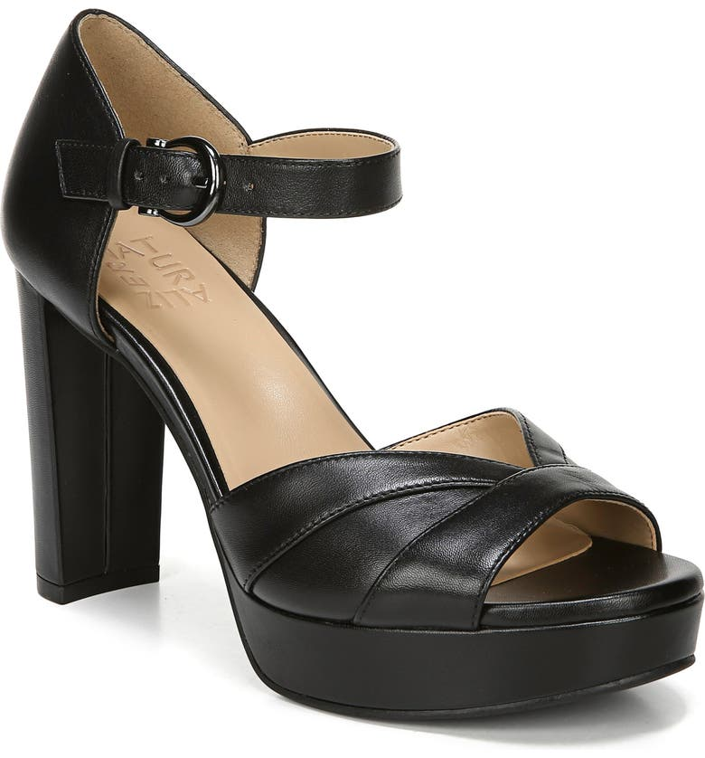 NATURALIZER Malina Platform Sandal, Main, color, BLACK LEATHER