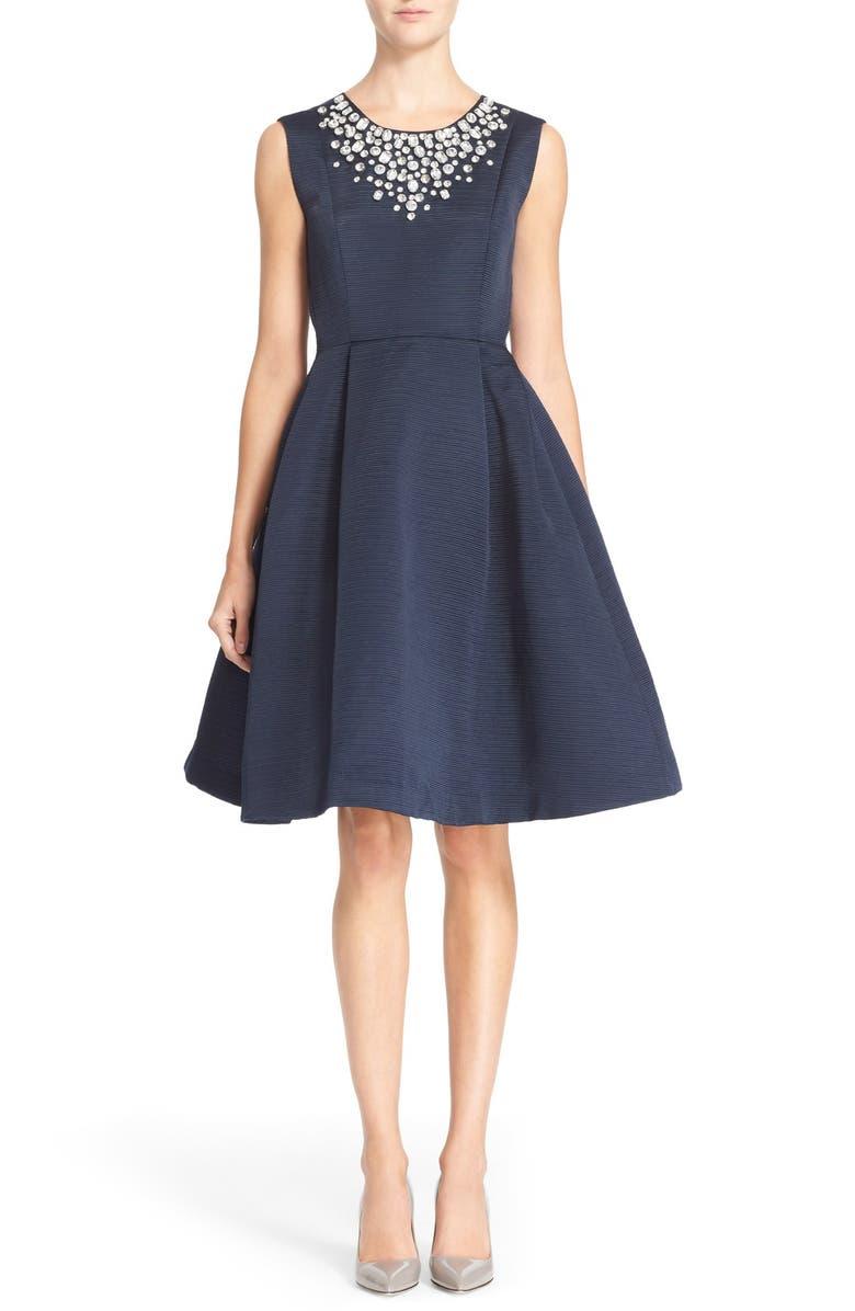 dbb16a3de3ec kate spade new york 'cambria' embellished fit & flare dress | Nordstrom
