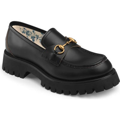 Gucci Bit Lug Sole Loafer, Black