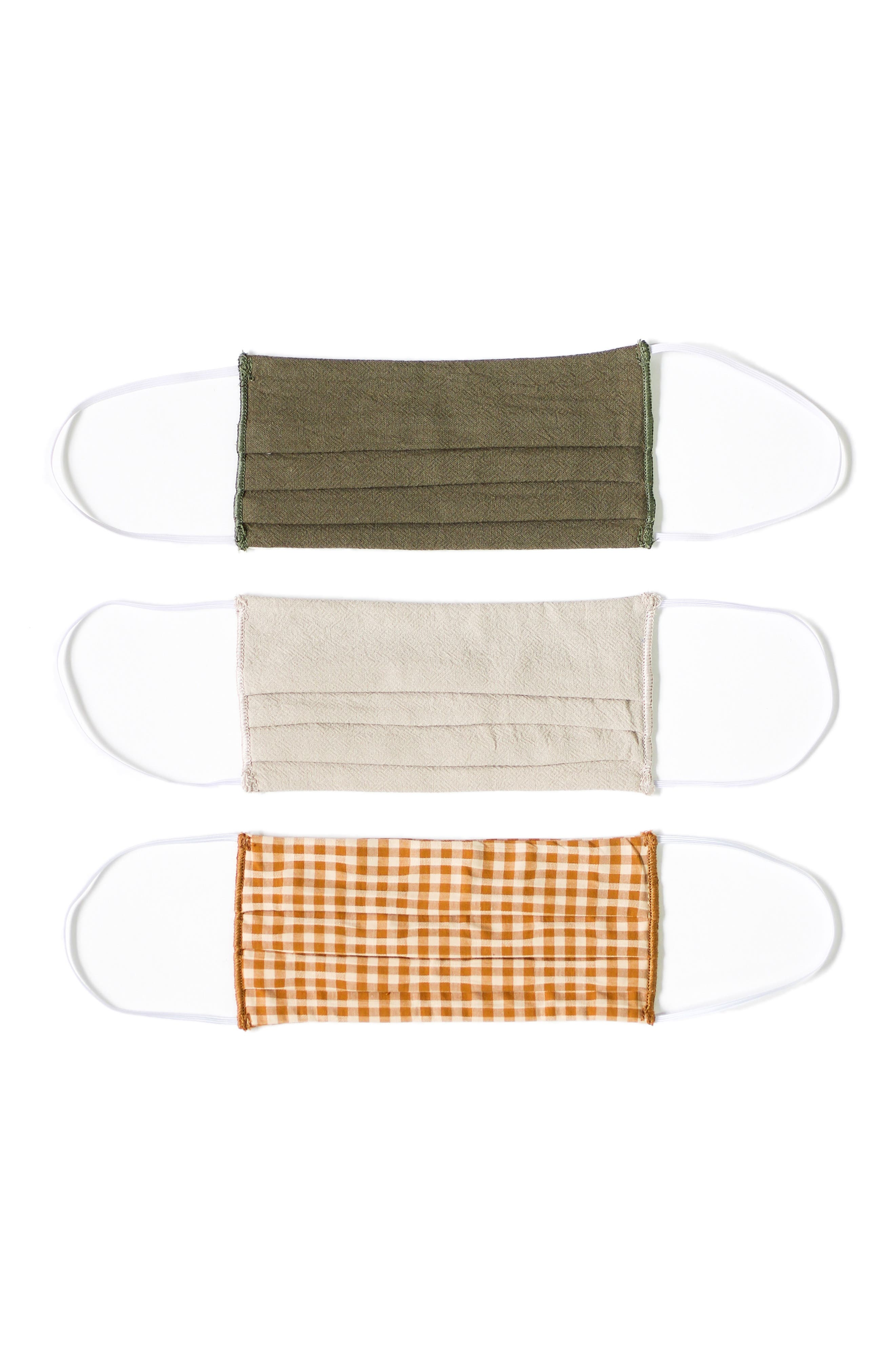 Women's Lost + Wander 3-Pack Pleated Face Masks
