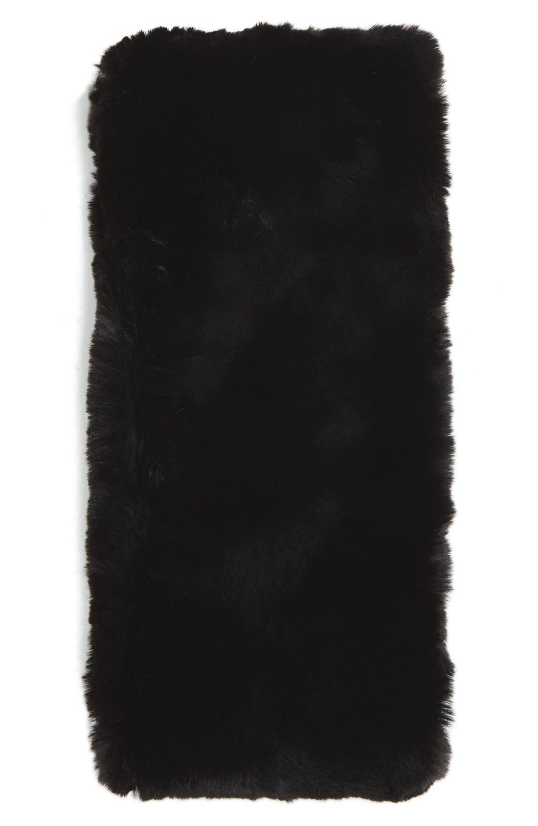 ,                             Faux Rabbit Fur Snood,                             Alternate thumbnail 2, color,                             001