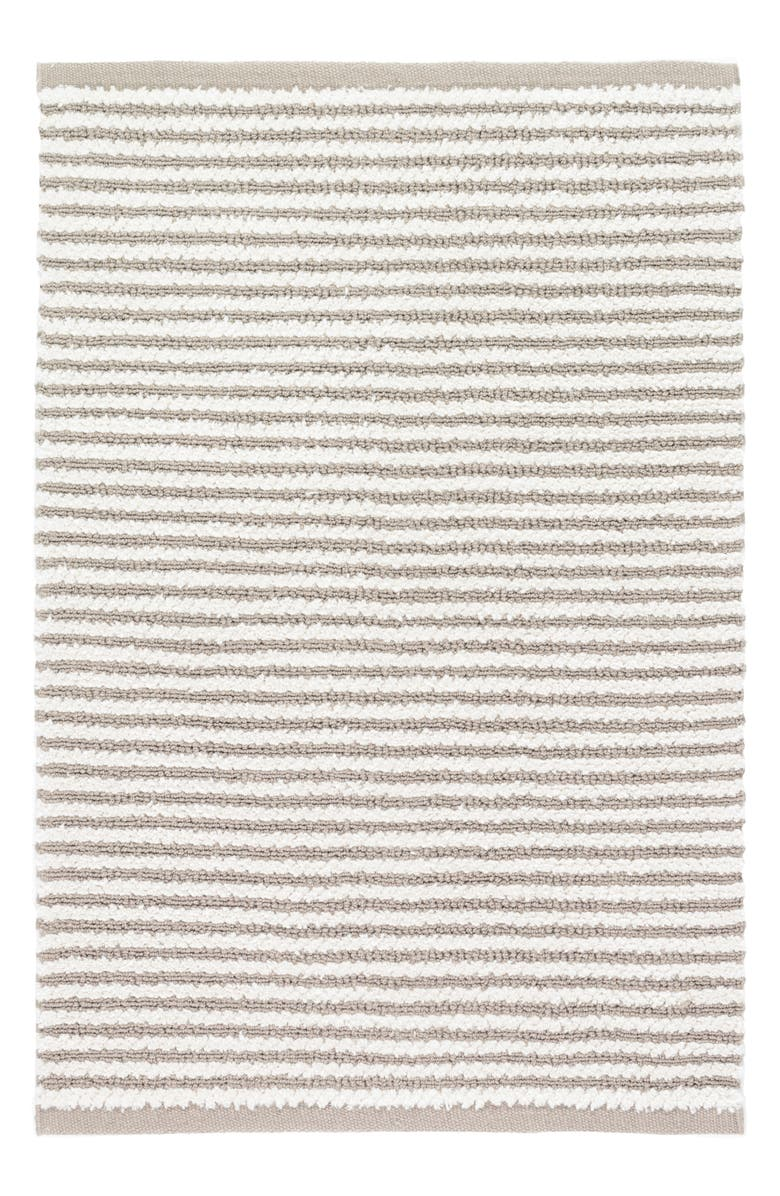DASH & ALBERT Shear Stripe Hand Woven Rug, Main, color, GREY
