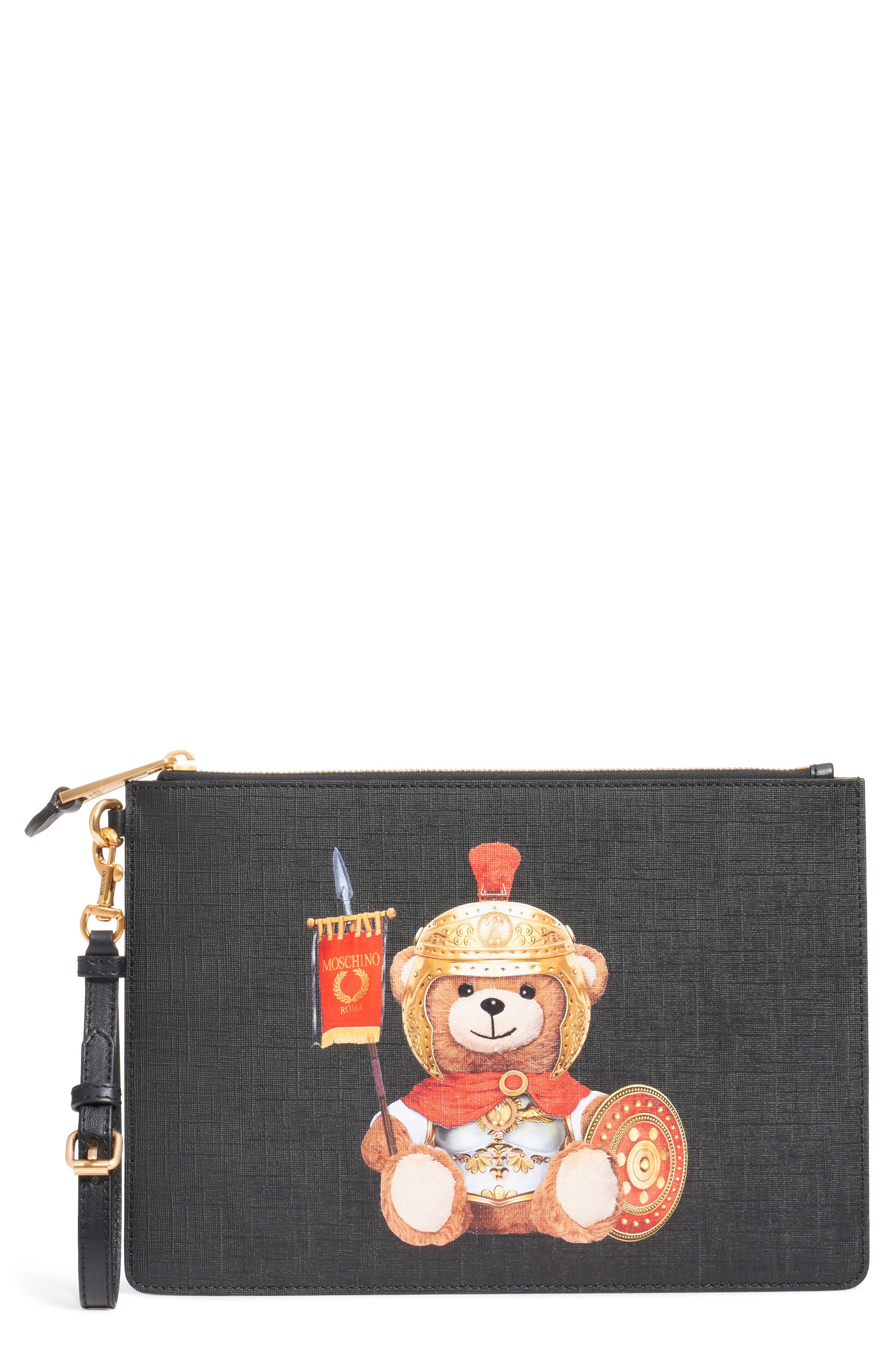 UPC 820771815005 product image for Moschino Gladiator Teddy Pouch - Black   upcitemdb.com