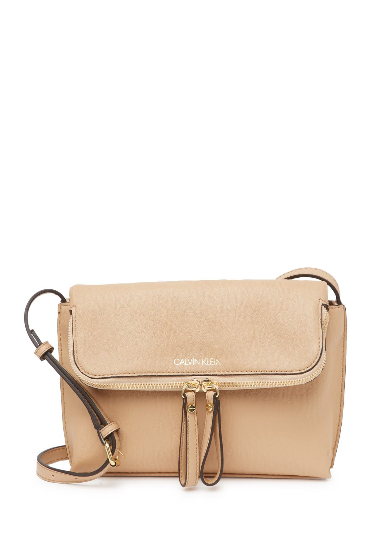 Image of Calvin Klein Elaine Zip Medium Crossbody Bag