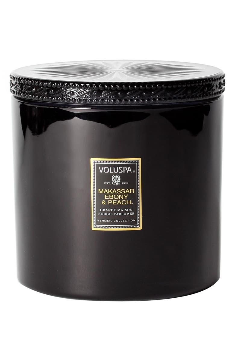 VOLUSPA 'Vermeil - Makassar Ebony & Peach' Candle, Main, color, 000