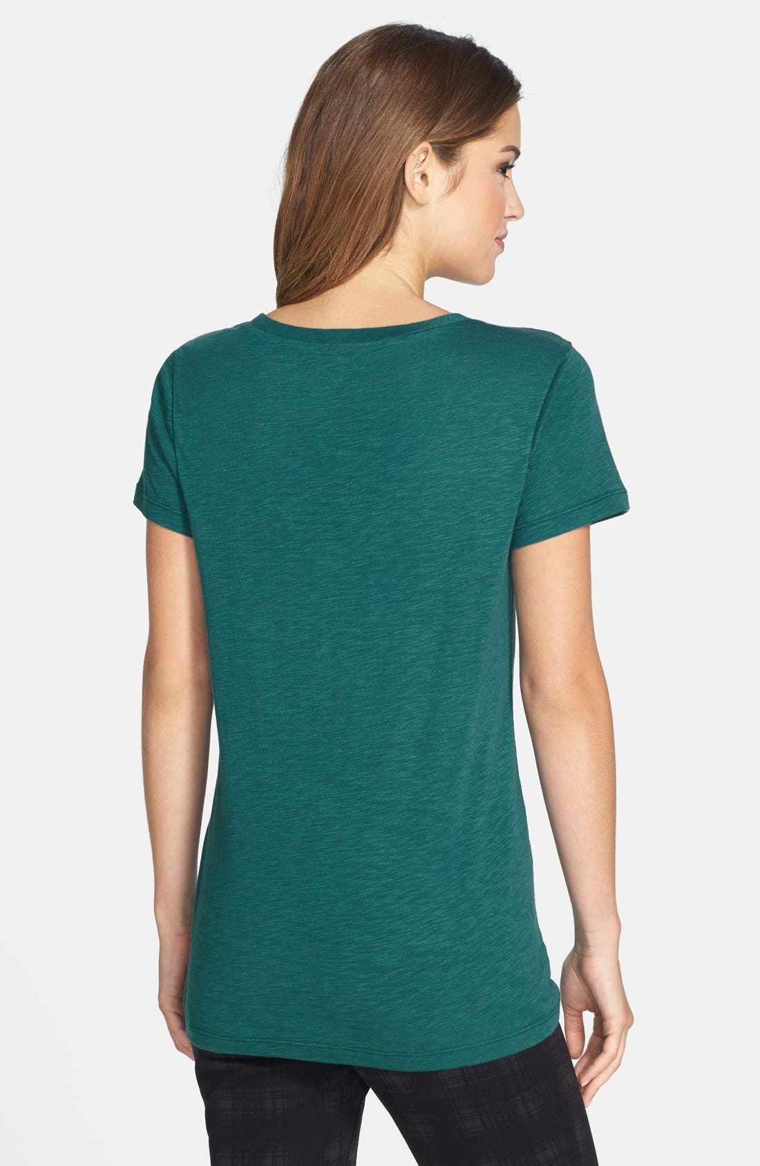 ,                             Relaxed Slub Knit U-Neck Tee,                             Main thumbnail 280, color,                             449