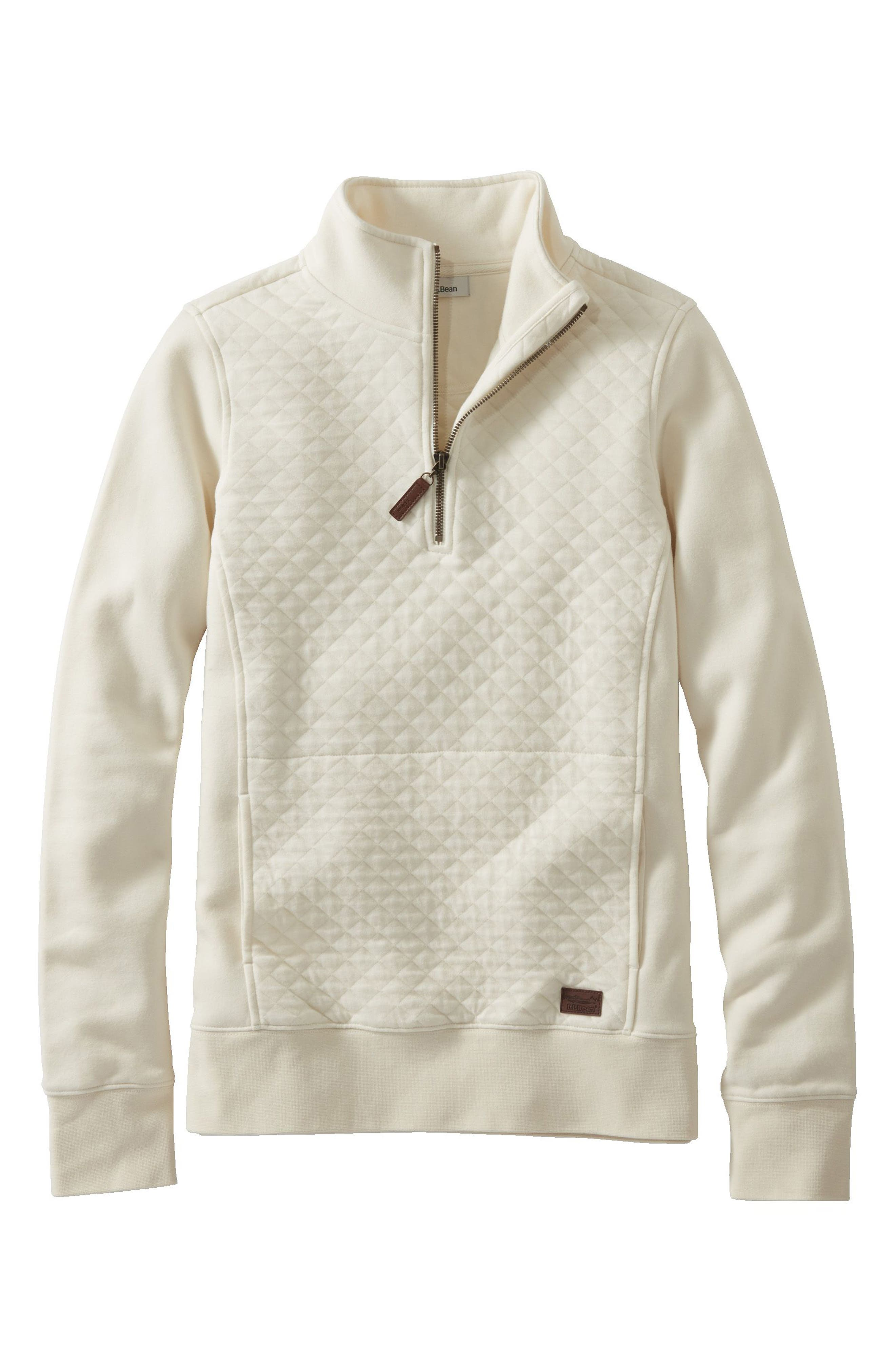 Quilted Quarter Zip Pullover