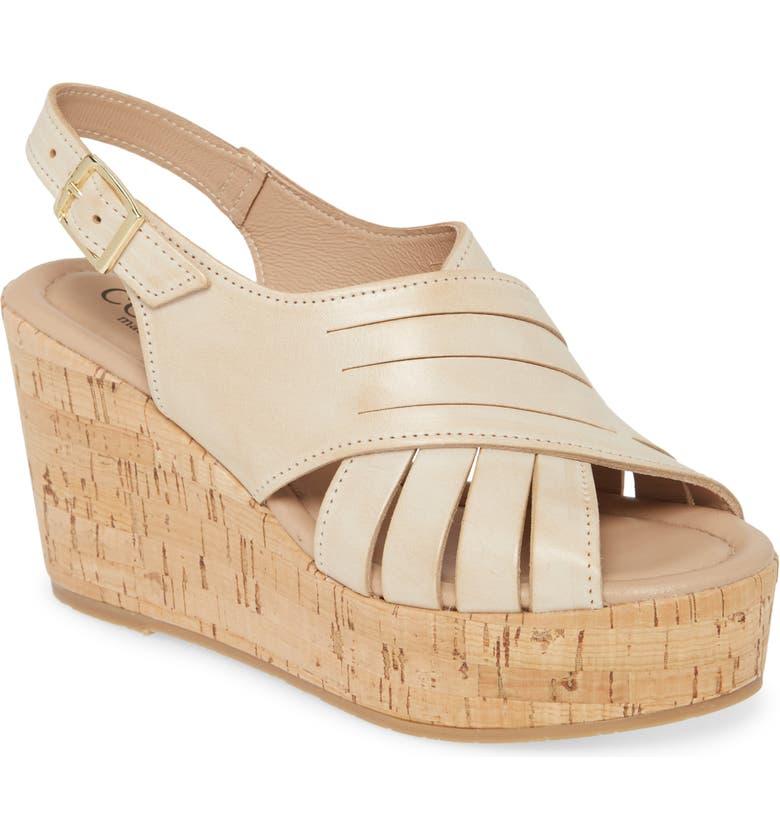 CORDANI Julia Slingback Wedge Sandal, Main, color, NATURAL LEATHER
