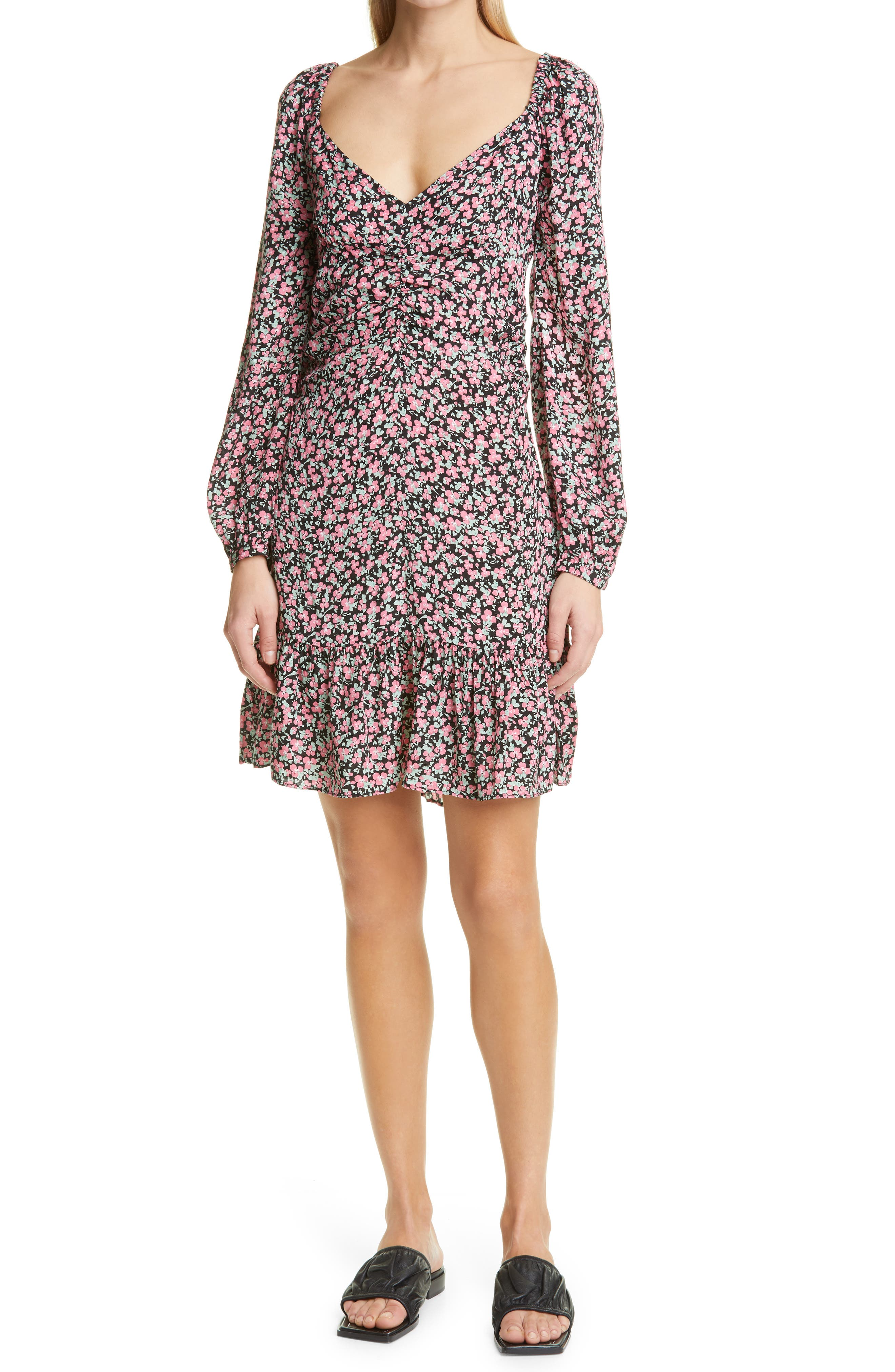 Delicate Floral Long Sleeve Dress