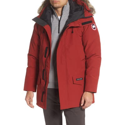 Canada Goose Langford Fusion Fit Parka With Genuine Coyote Fur Trim, Red