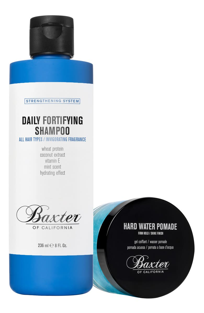 BAXTER OF CALIFORNIA Hard Water Pomade & Daily Fortifying Shampoo Set, Main, color, NO COLOR