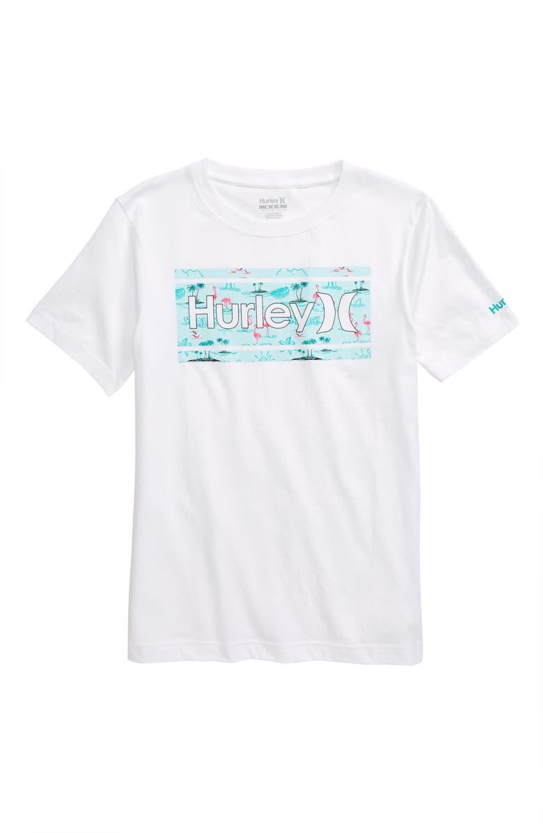 HURLEY Print Fill Graphic T-Shirt, Main, color, 100
