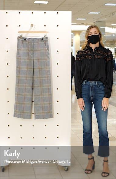 Isley Plaid Wide Leg Crop Pants, sales video thumbnail