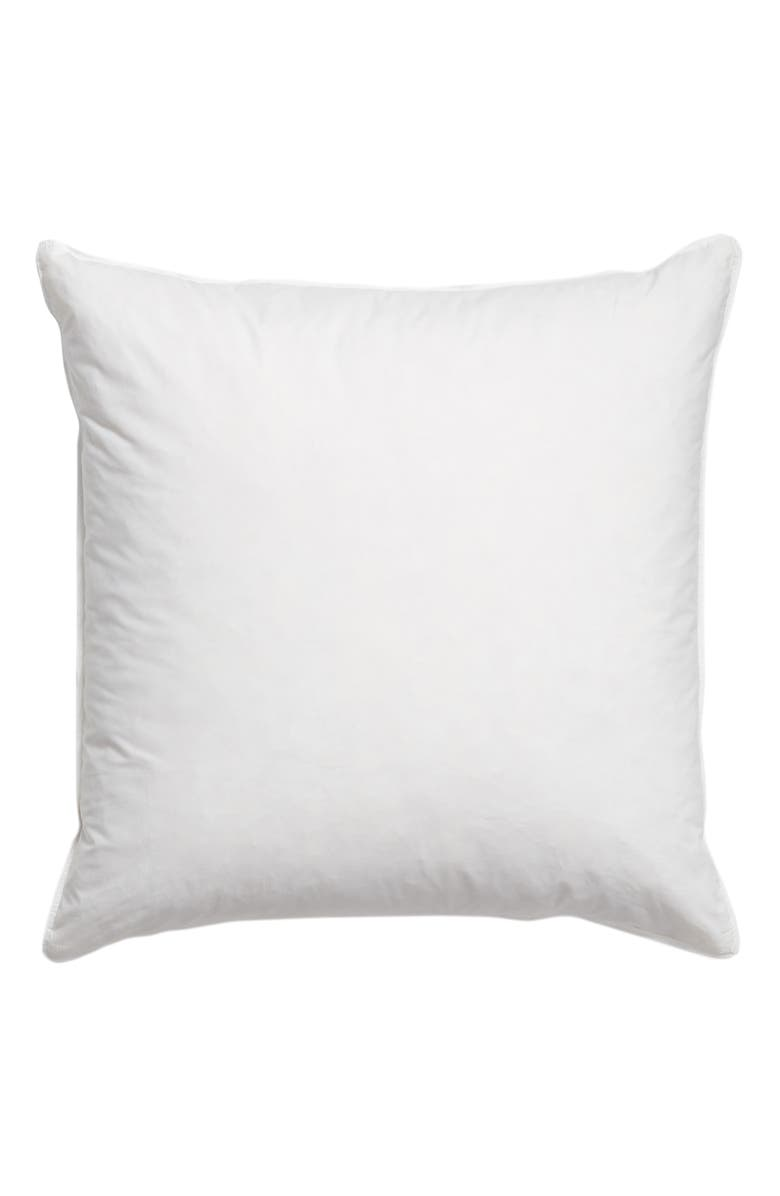 NORDSTROM AT HOME Feather Fill Euro Pillow, Main, color, WHITE