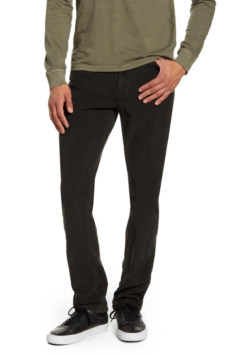 RVCA Daggers Corduroy Pants, Main, color, PIRATE BLACK