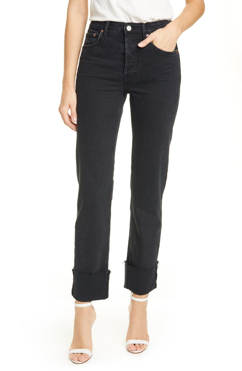 TRAVE Berit Straight Leg Jeans, Main, color, 001