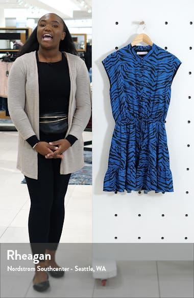 Ollie Zebra Print Satin Minidress, sales video thumbnail