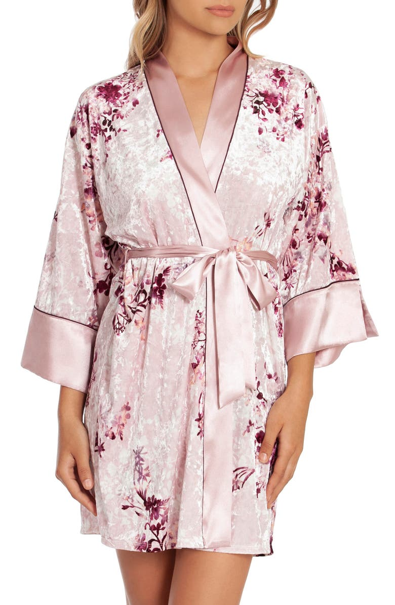 IN BLOOM BY JONQUIL Alpine Crushed Velvet Wrap, Main, color, FAWN PINK