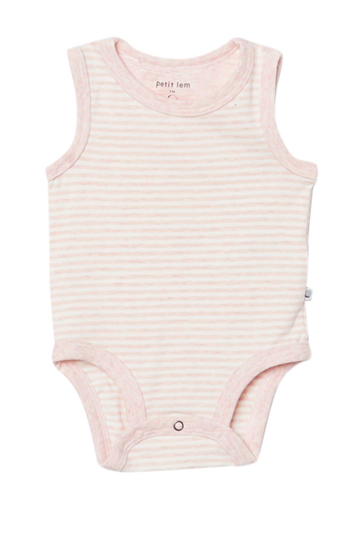 Image of Petit Lem Stripe Print Sleeveless Diaper Shirt