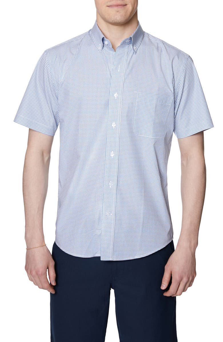 HICKEY FREEMAN Regular Fit Cotton Shirt, Main, color, WHITE