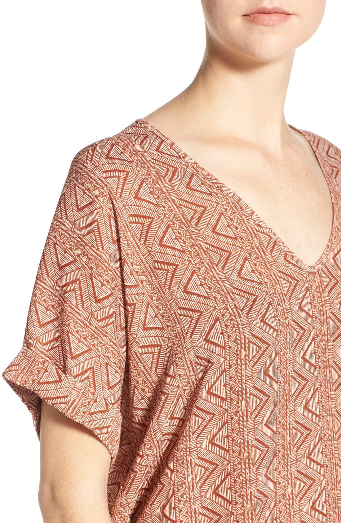 ,                             Lush Cuff Sleeve Woven Tee,                             Alternate thumbnail 156, color,                             630