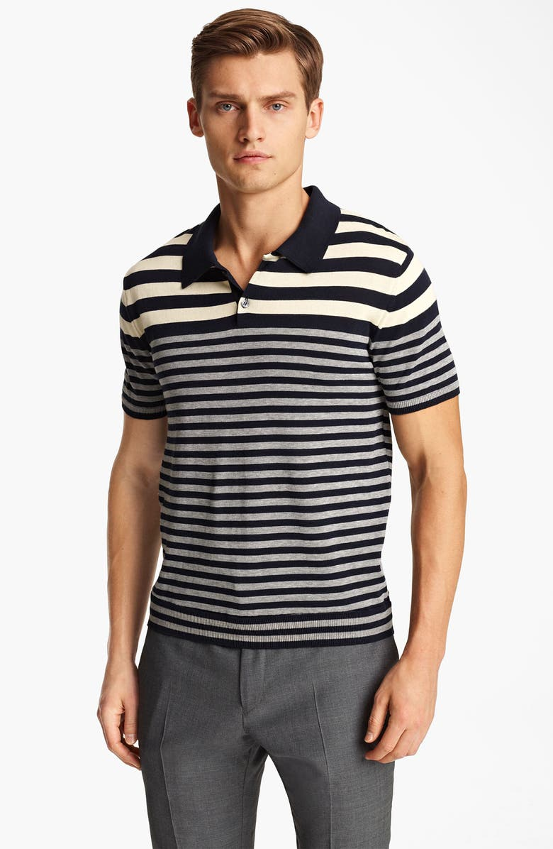 PS PAUL SMITH Stripe Knit Polo, Main, color, 020