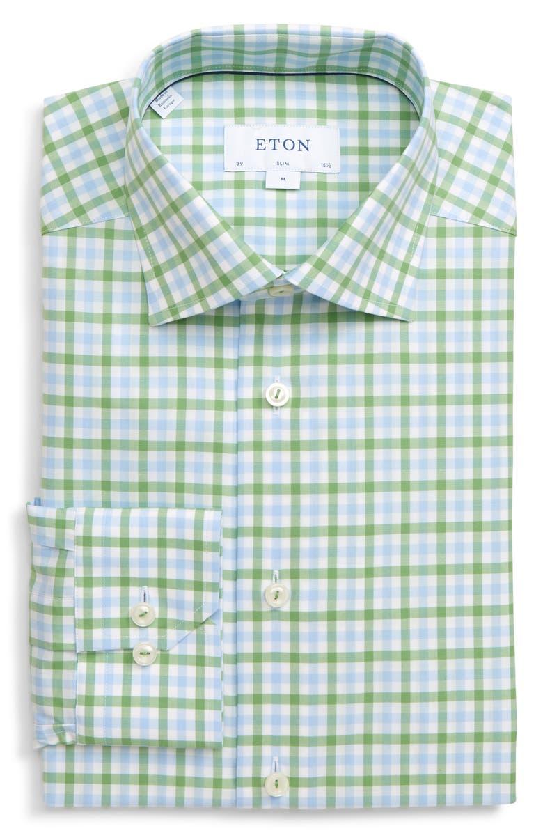 ETON Slim Fit Check Dress Shirt, Main, color, 300