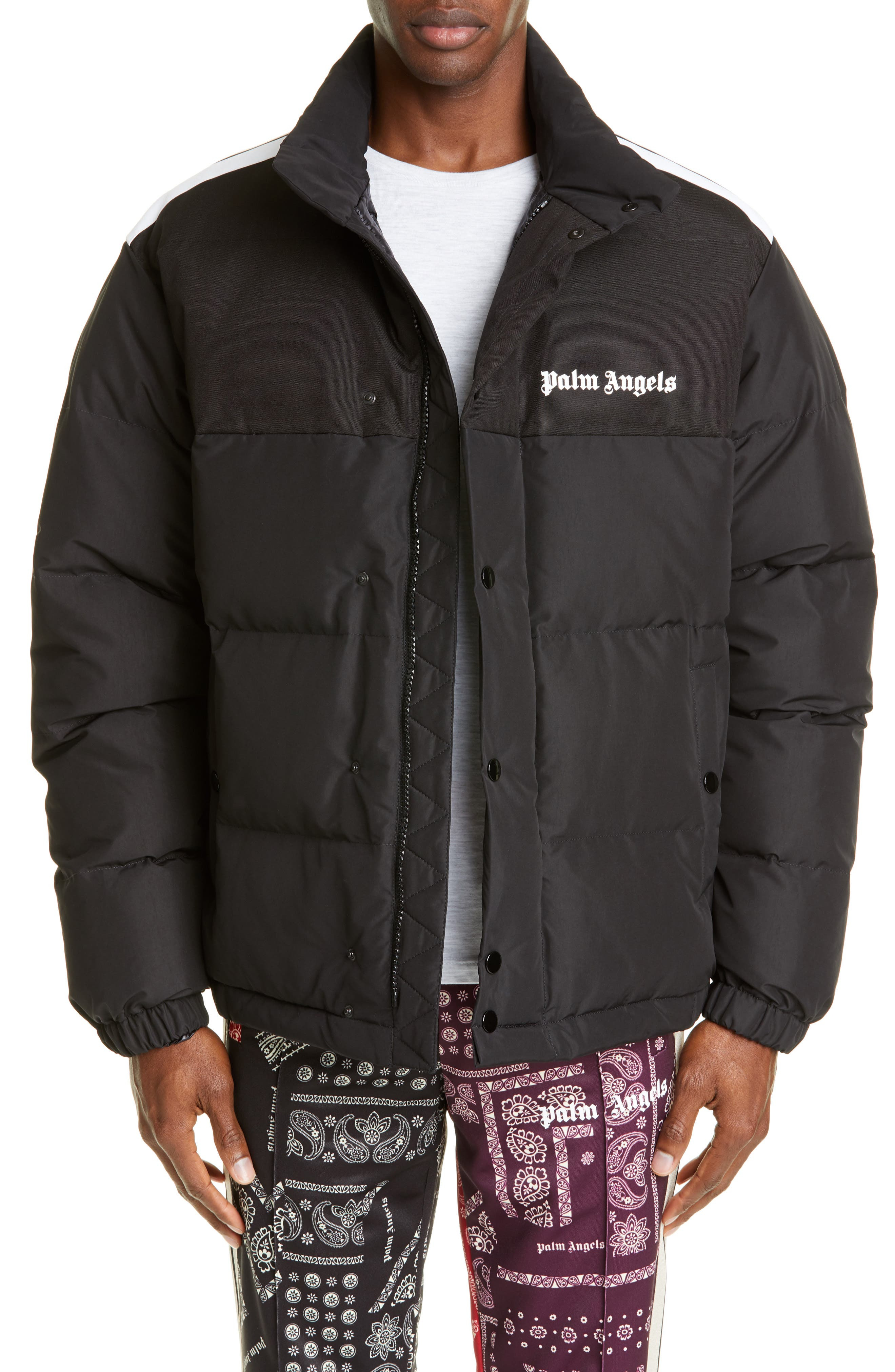 Palm Angels Down Track Jacket, Black