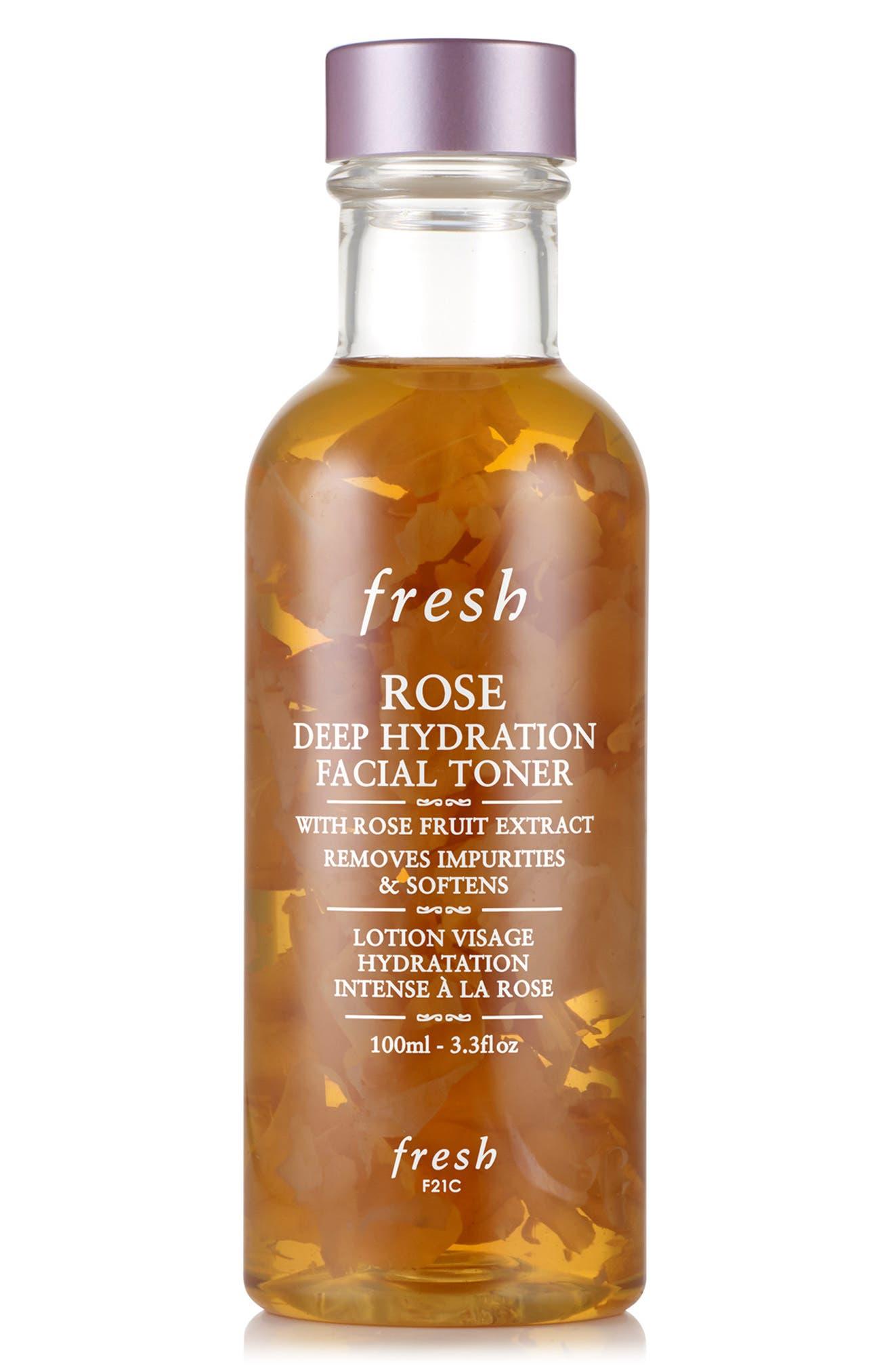 Rose Deep Hydration Facial Toner, Main, color, NO COLOR