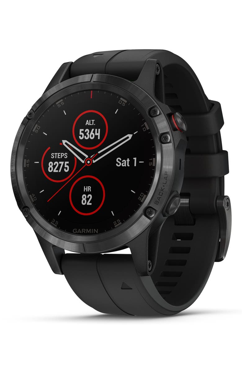 GARMIN fenix<sup>®</sup> 5 Plus Sapphire Premium Multisport GPS Watch, 47mm, Main, color, BLACK