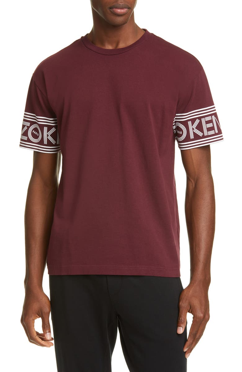 KENZO Sport T-Shirt, Main, color, BORDEAUX