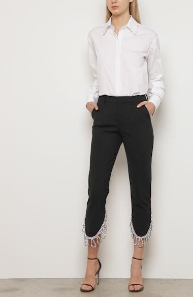 Crystal Fringe Crop Trousers, video thumbnail