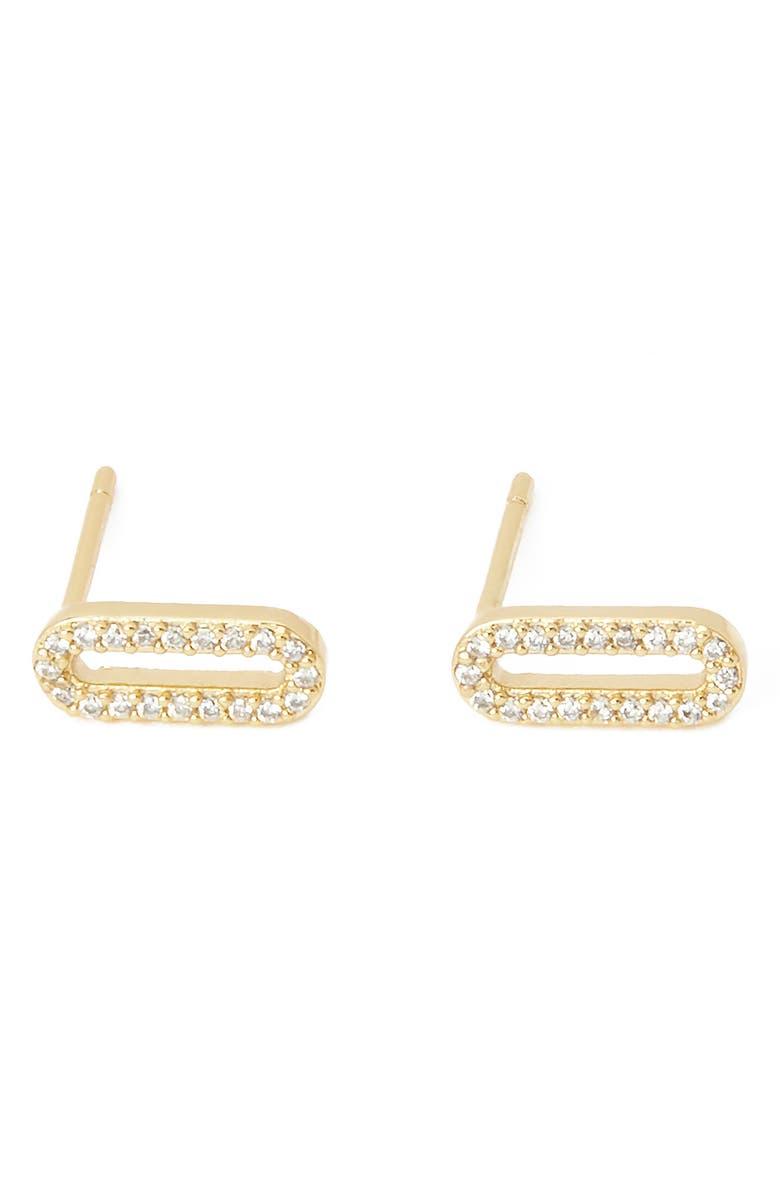 GORJANA Parker Shimmer Stud Earrings, Main, color, 100