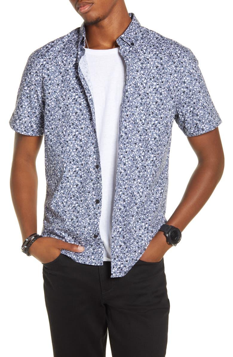 BP. x Alex Costa Short Sleeve Button Down Shirt, Main, color, 410