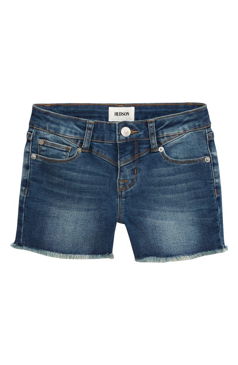 HUDSON JEANS Alani Short-3 Frayed Hem Shorts, Main, color, 400
