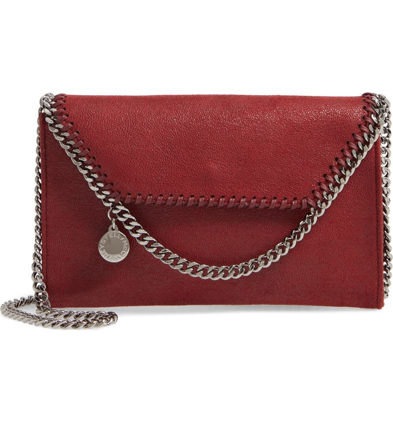 STELLA MCCARTNEY Mini Falabella Shaggy Dear Faux Leather Crossbody Bag, Main, color, 600
