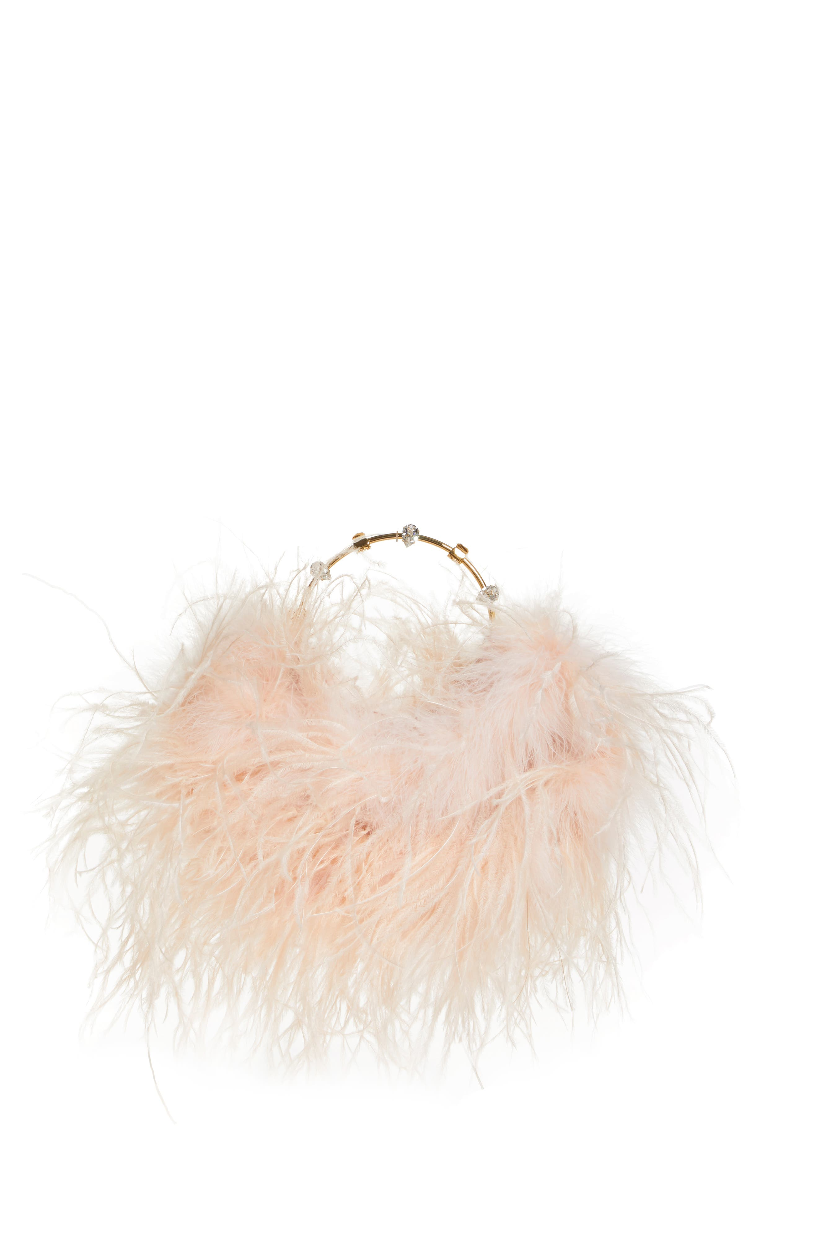 Feather Top Handle Bag