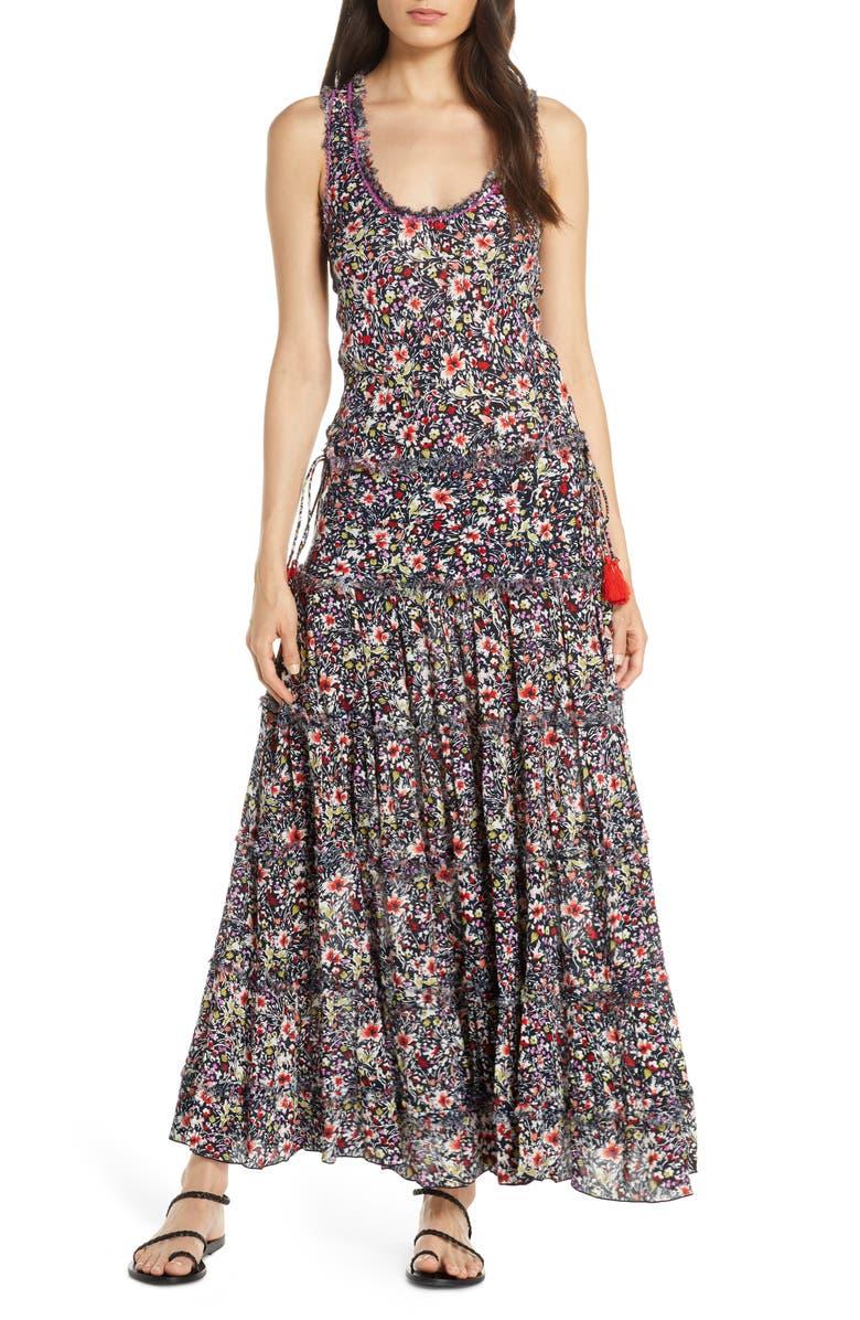 POUPETTE ST BARTH Betty Cover-Up Maxi Dress, Main, color, NAVY AZALEA
