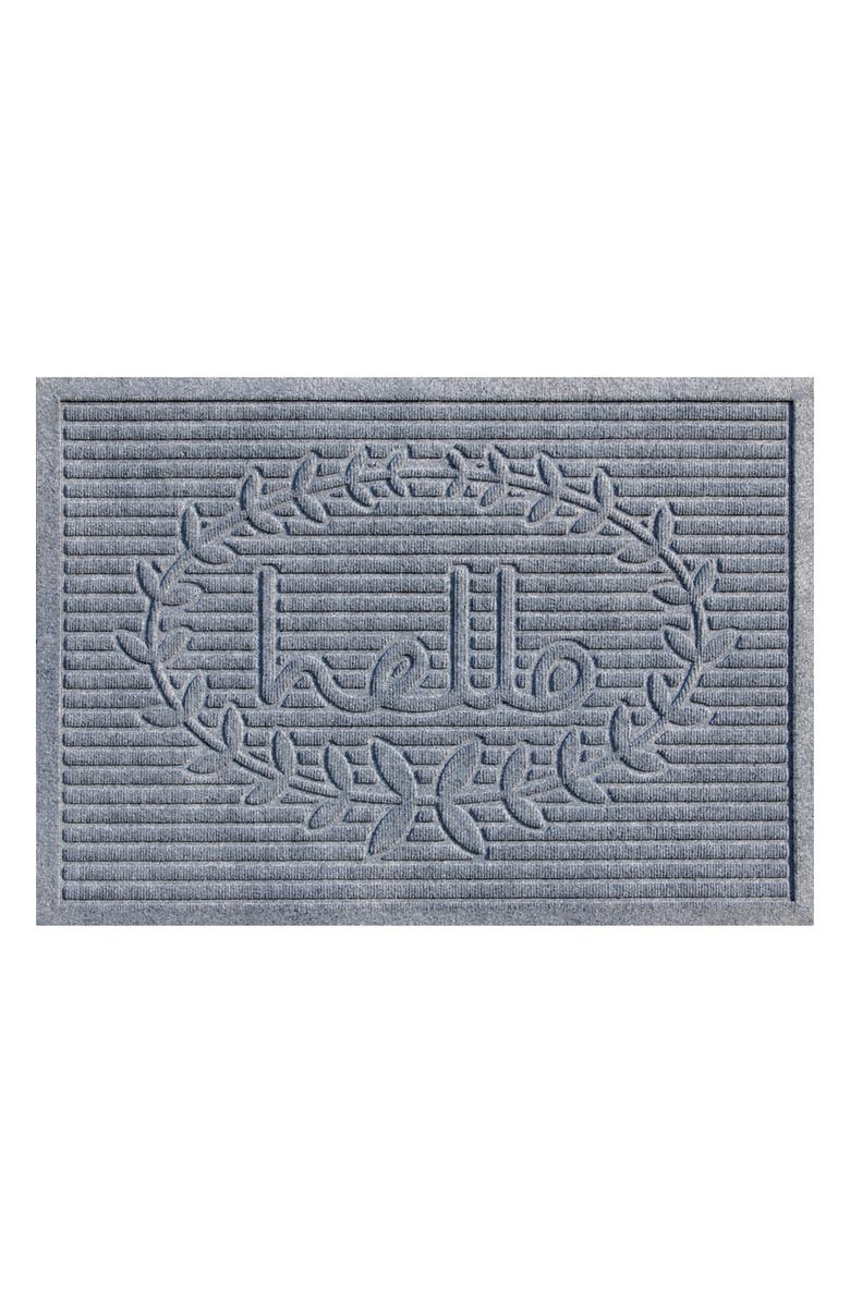 CALLOWAYMILLS Hello Doormat, Main, color, LIGHT GREY