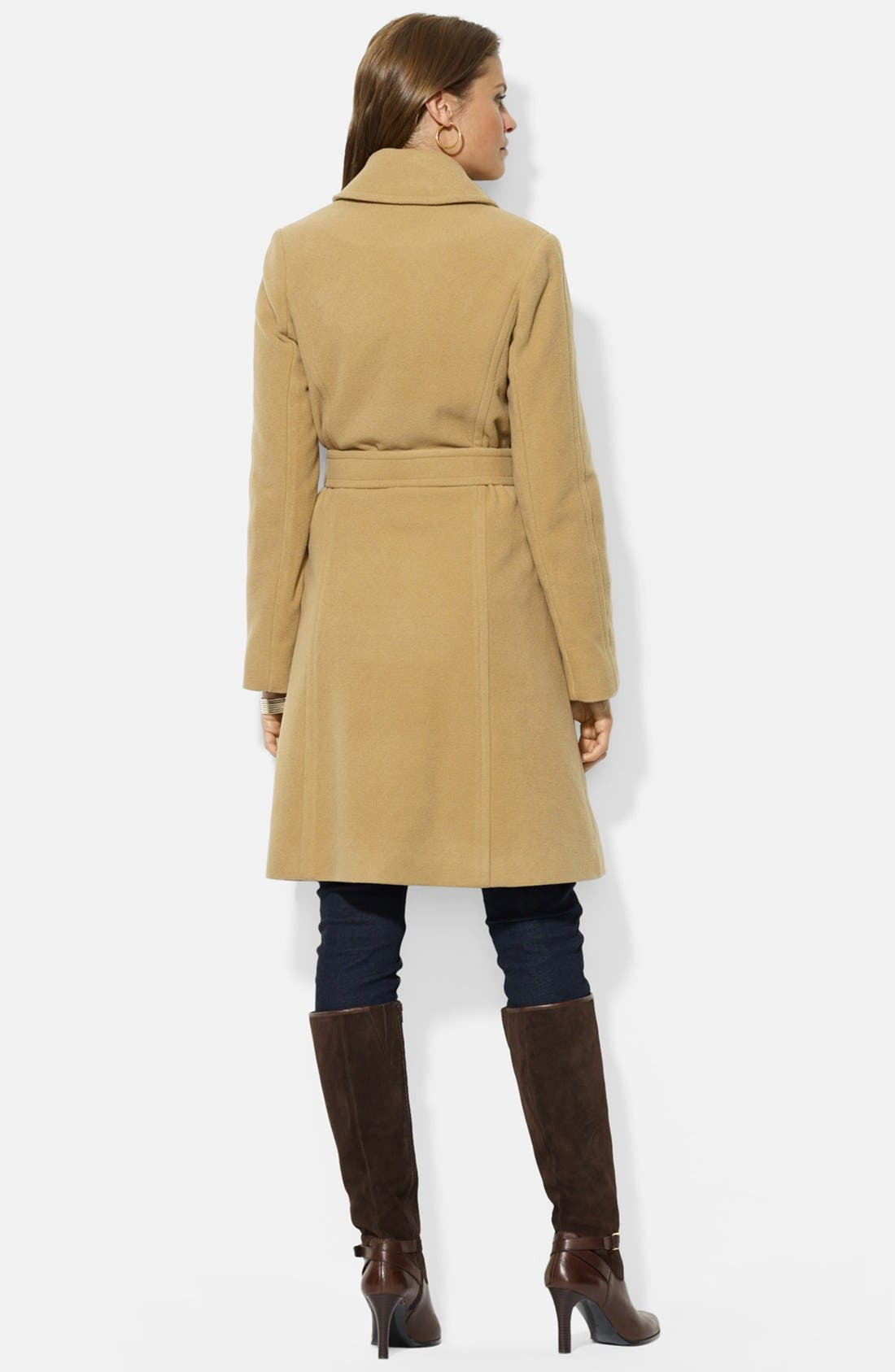 ,                             Wool Blend Wrap Coat,                             Alternate thumbnail 28, color,                             250