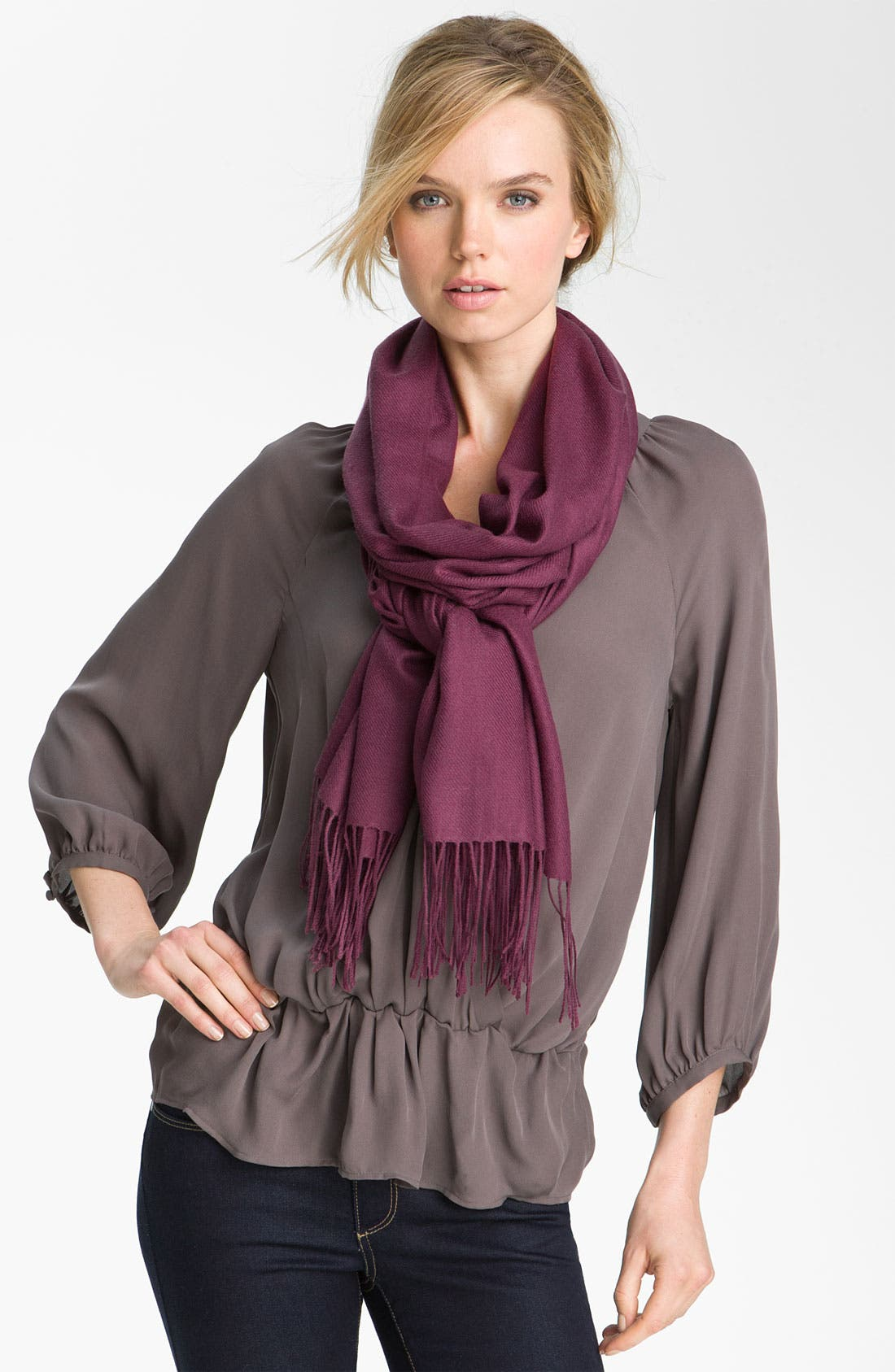 ,                             Tissue Weight Wool & Cashmere Wrap,                             Main thumbnail 143, color,                             542