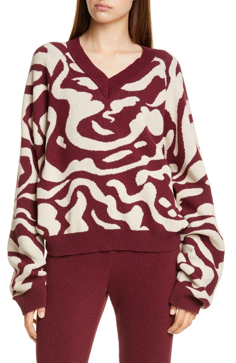 NANUSHKA Devon Jacquard Sweater, Main, color, 930