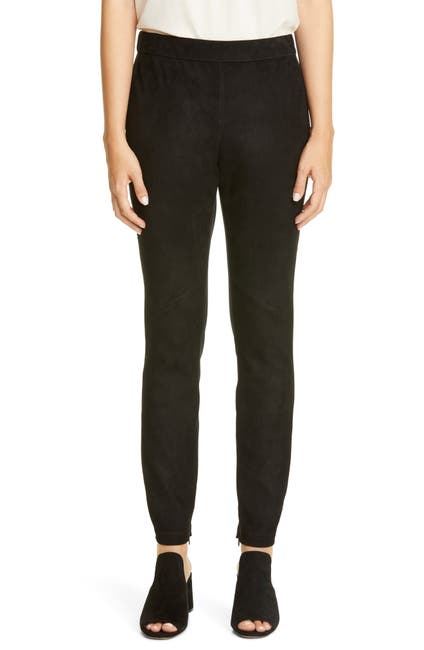 Image of Lafayette 148 New York Murray Suede Front Skinny Pants